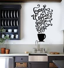 vinyl wall decal quote coffee kitchen shop restaurant cafe art