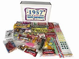 gift for 60 year 1957 retro nostalgic candy decade 60th birthday gift