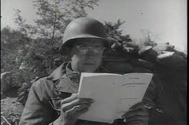 CIRCA     s   A soldier does his homework in Korea  an American radio station in