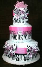 buy kitty diaper cake tier zebra baby shower