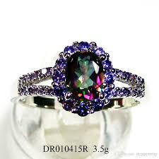 stone wedding rings images Fashion jewelry ellipse amethyst stone ring mystic main stone jpg