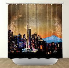 Skyline Shower Curtain Designer Shower Curtains Shower Curtains Outlet