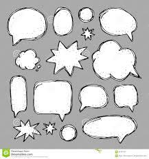 speech bubble hand drawn handwriting set of speech bubbles stock vector image 87431927