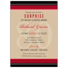 classic stripe 80th birthday invitations paperstyle