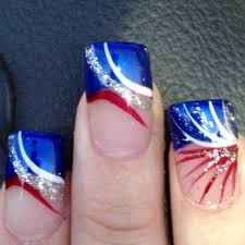 nail designs for 4th of july fourth july nail art nail fun