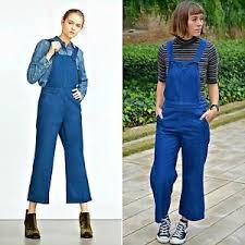 zara denim jumpsuit zara navy blue cotton flare dungarees jumpsuit authentic