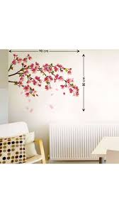 wall stickers paytm wall stickers paytm buy walltola wall decals sakura cherry blossom wall sticker online at low