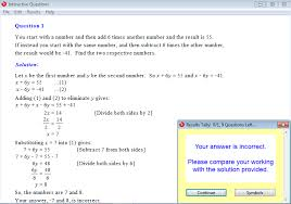 solution for a question from year 9 interactive maths chapter 5 simultaneous equations