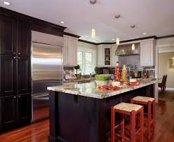 Wood Mode Kitchen Cabinets by Inspired Subzero Refrigerator Look New York Beach Style Kitchen