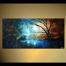Abstract Landscape Painting by Landscape Painting Blue Abstract Landscape Painting Tree 4675