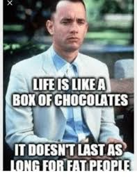 Funny Fat People Meme - life is like a box of chocolates it doesn t last as long for fat