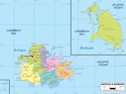 North America Political Map by Barbuda Island Map Of Antigua And Barbuda And Antigua And