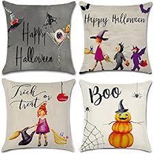 amazon com hosl pw01 4 pack happy halloween square decorative
