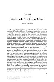 Compare And Contrast Essay Example For College Goals In The Teaching Of Ethics Springer