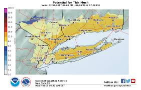 Local Weather Map Long Island Weather Forecast Snowfall Estimate Maps Released For
