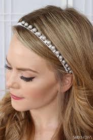 pearl headband white pearl studded headband