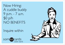 Cuddle Buddy Meme - now hiring a cuddle buddy 9 p m 7 a m 0 p h no benefits