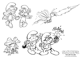smurfs lost village coloring coloring pages
