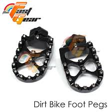 dirt cnc black rider foot pegs fit yamaha yz 125 250 00 01 01 02