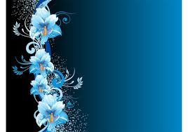 Blue Flowers - blue flowers background download free vector art stock graphics
