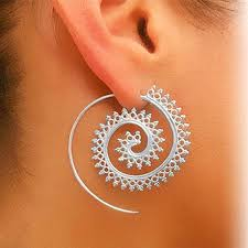 earring on ear famshin 1 pair fashion spiral stud earring ear stud