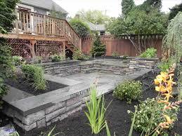 Landscaping Ideas For Sloped Backyard Sloped Backyard Landscaping Ideas Best Ideas Sloped