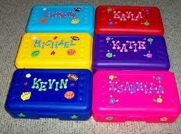 personalized party favors r104 personalized pencil box kids children s personalized