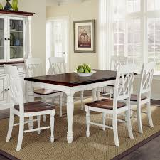 6 pc dinette kitchen dining room set table w 4 wood chair shop home styles monarch white oak 7 piece dining set with dining