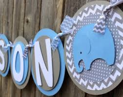 blue baby shower decorations elephant baby shower etsy