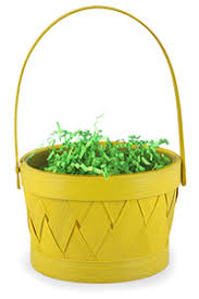 easter basket grass yellow easter basket with grass filling free 1 3 day delivery