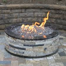 Firepit Stones Gas Pit Glass Stones Method Of Stacking The Pit Stones