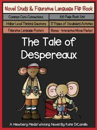 tale despereaux study u0026 figurative language flip
