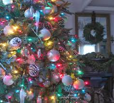 christmas trees with colored lights decorating ideas french country cottage o christmas tree white lights colored