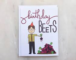 the office birthday card etsy