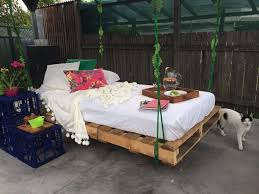 swing bed made from wooden pallets pallet wood projects