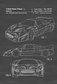ferrari front drawing 1994 ferrari f40 patent patent print wall decor automobile