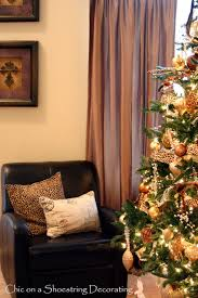 Animal Print Furniture Home Decor by Chic On A Shoestring Decorating My Fancy Christmas Tree With A