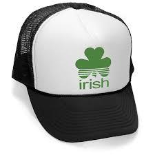 irish ireland st paddys patricks day party mesh trucker cap hat