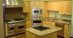 classy maple shaker kitchen cabinets features brown color wooden
