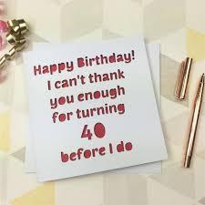 40th birthday card 40th birthday 40 card 40th gift friend 40
