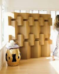 pretty awesome temporary walls from cardboard that can be