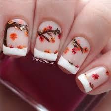 55 seasonal fall nail art designs falling leaves fall season