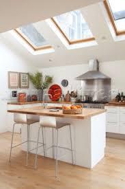 Designer Kitchen Stools Velux Windows Above Bar Stools At Breakfast Bar In Contemporary