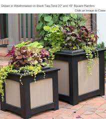 outdoor poly furniture amish gardens poly square planter box with