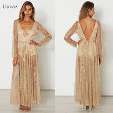 gold maxi dress aliexpress buy sleeve gold sequin dress women sparkly