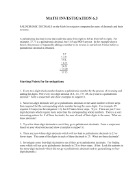 pattern with palindromic numbers palindromic decimals instructions