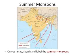 climate of india directions on your map please sketch the