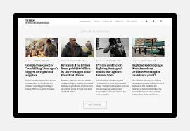 location bureau journ bureau of investigative journalism fonts in use klim type foundry