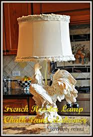 serendipity refined blog french rooster kitchen lamp chalk paint