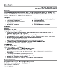 Job Resume Examples Skills by Babysitter Resume Samples Resume For Your Job Application